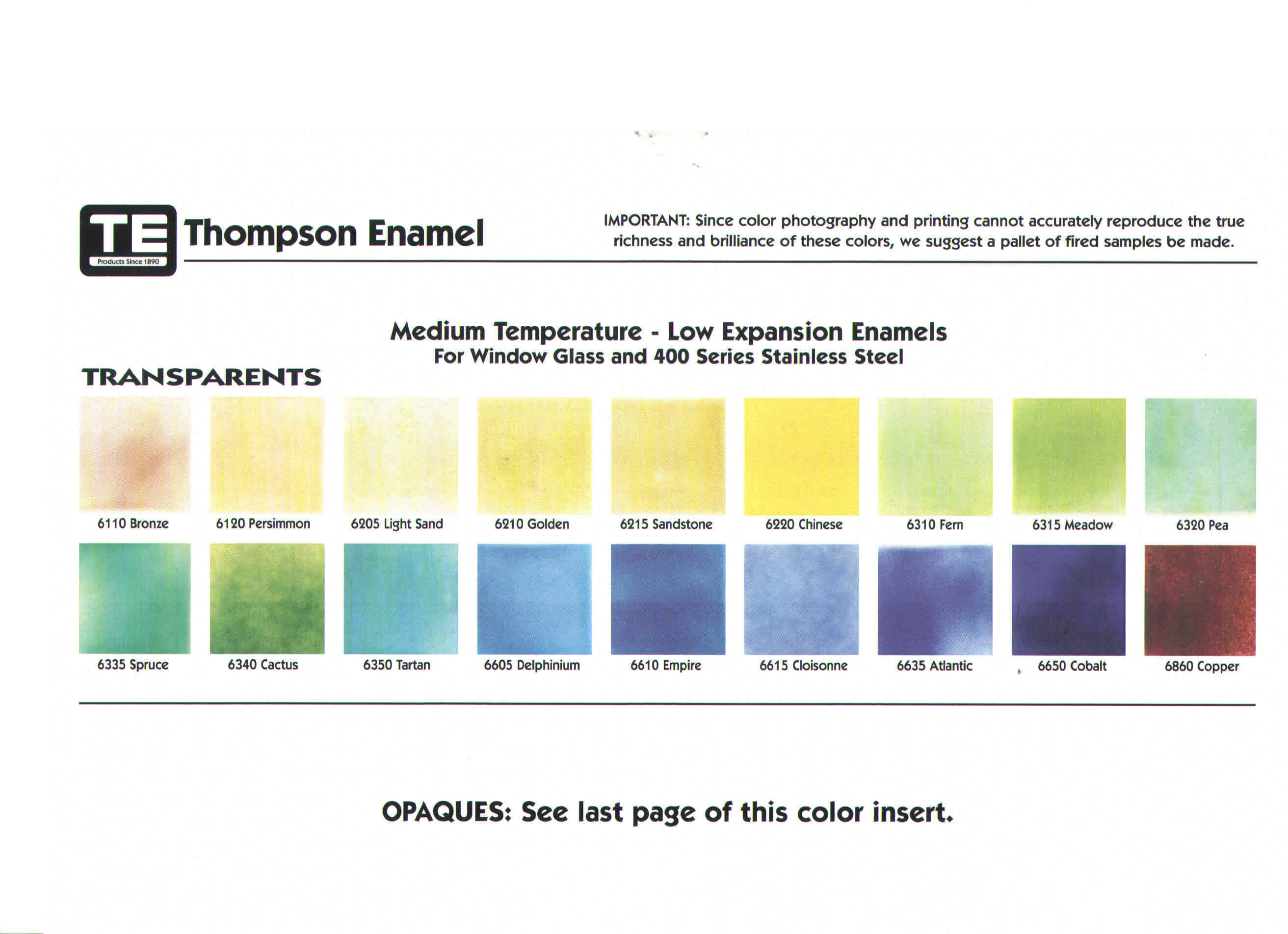 Enameling Help And Information Thompson Enamel